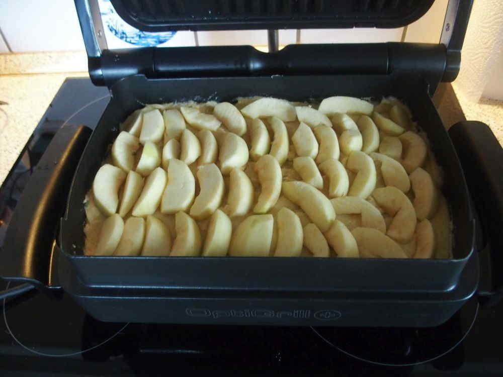 Apfelkuchen vor dem backen