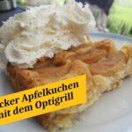 Apfelkuchen mit dem Optigrill